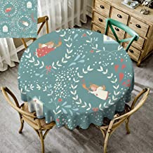 Christmas Home Round Tablecloth Xmas Before Christmas Decorations Decor Winter Everyday Use Angel Flowers Green - 70