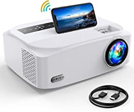 """Sponsored Ad - 5G 7500Lux WFi Projector, GROVIEW Full HD Native 1080P Projector Synchronize Smartphone Screen, Max 300"""" Di..."""