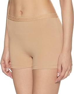 Jockey Women's Plain/Solid Boy Shorts (3007_Skin_Medium)