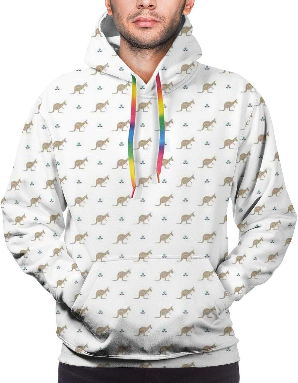 Men's Hoodies Sweatshirts,Double Exposure Graphic of Winter Woods in A Lion Silhouette