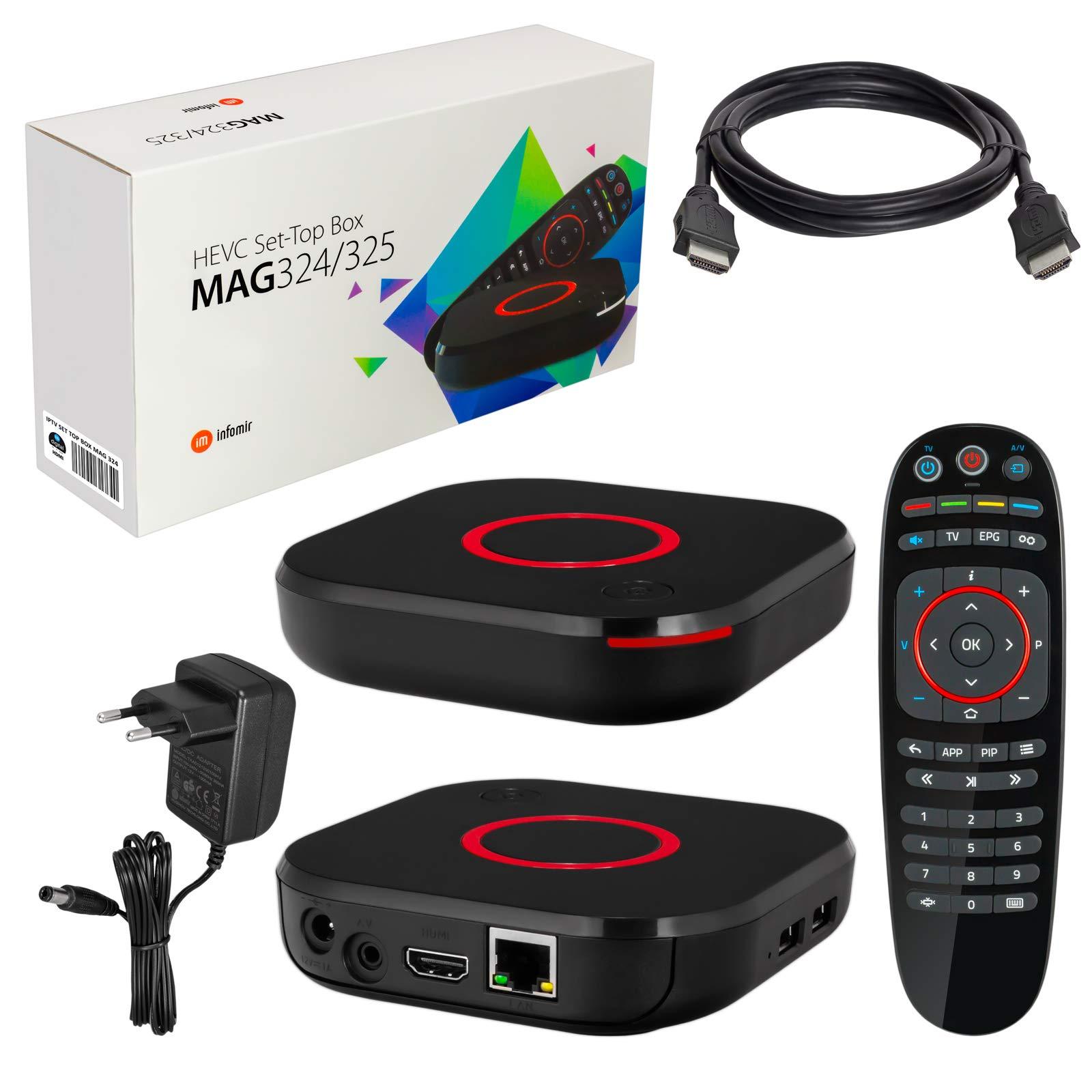 mag 324 Original Infomir y HB-DIGITAL IPTV Kit Top Box Reproductor ...