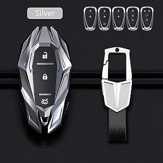 Wcnsxs Zinklegierung Auto Schlüsseletui Schlüsselhülle, Für Chevrolet Cruze Spark Camaro Volt Bolt Trax Malibu Captiva Equinox Trax Tracker Aveo Lova