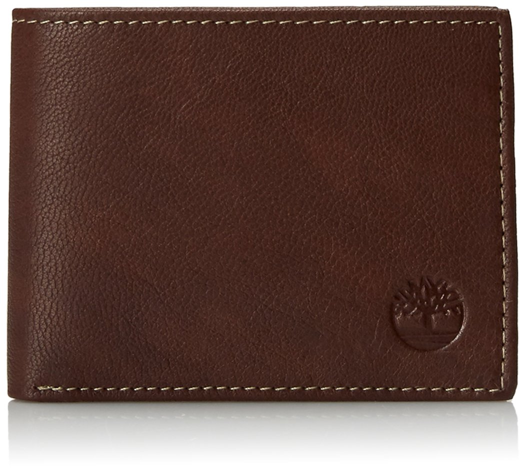 Timberland Slimfold Leather Wallet Brown