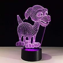 JYHW 3d LED 7 van kleur veranderende nachtlicht schattige hond wooncultuur hond vorm tafellamp baby nachttafellamp verlich...