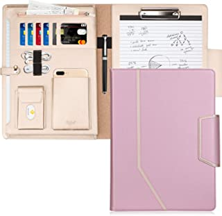Toplive Padfolio Portfolio Case, Conference Folder Executive Business Padfolio with Document Sleeve,Letter/A4 Size Clipboa...