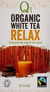 Qi Tea Organic Relax White Tea Teabags, 25 Count