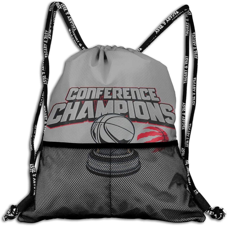 Eastern Conference Champions 2019 TgoldntoRaptors Unisex Drawstring Gym Backpack Sport Travel Sack Bag
