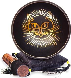 مجموعه کاسه ای تبتی - آسان برای پخش گربه طراحی مدیتیشن Mindful 7 Chakra Sound Healing Handcrated Gift توسط HIMALAYAN BAZAAR