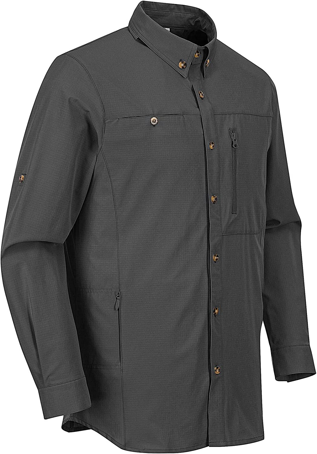 Outdoor In a popularity Ventures Men's Long Sleeve Hiking Latest item 50+ Prot Shirts UV UPF