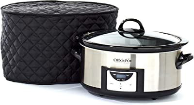 Covermates – Slow Cooker Cover – 17W x 12D x 17H – Diamond Collection – 2 YR Warranty – Year Around Protection - Black