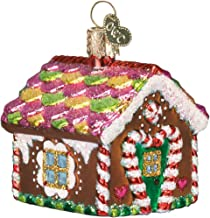 Old World Christmas Ornaments: Gingerbread House Glass Blown Ornaments for Christmas Tree