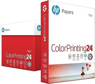 HP Printer Paper, ColorPrinting24, 8.5 x 11 Paper, Letter Size, 24lb Paper, 97 Bright, 2,400 Sheets / 6 Ream Carton (202040C) Acid Free Paper