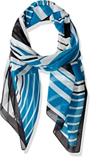 Calvin Klein womens Geo Print Scarf Patterned Fashion Scarf One Size