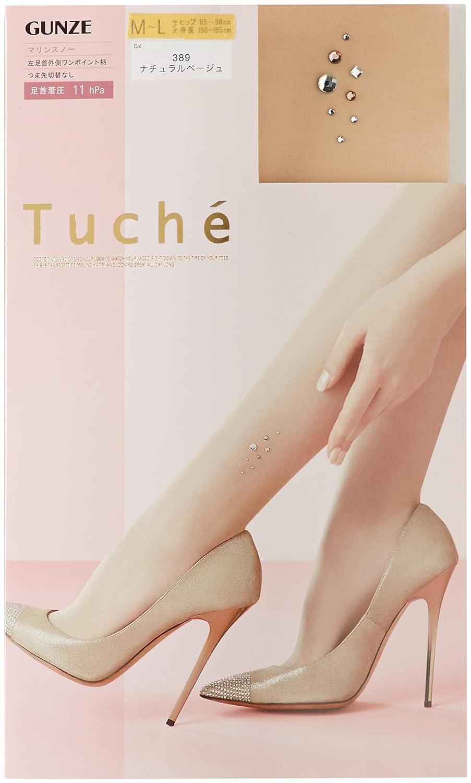 [グンゼ] 柄ストッキング トゥシェ Tuche 左足首外側ワンポイント柄 TH618Y レディース