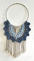 Boho Handmade Makramee Wandbehang blau