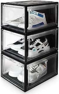 55 CJMING Sac de Rangement pour Chaussures 13 cm 48 Organiseur /à Chaussures pour Rangement 12 Compartiments bo/îte de Rangement sous Le lit avec Anti-Poussi/ère Housse