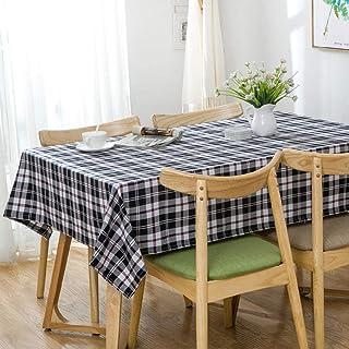 GTWOZNB Mantel Cocina Salón Limpiar. Celosía pequeñas Rayas Frescas-Gris Blanco y Negro_El 120 * 160cm