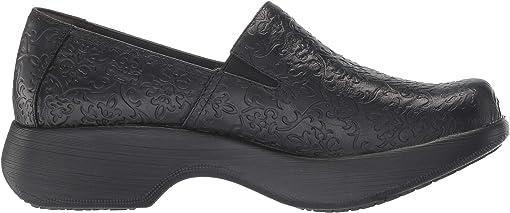 Black Tooled Leather