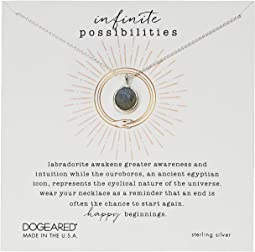 Infinite Possibilities, Ouroboros w/ Faceted Labradorite Necklace