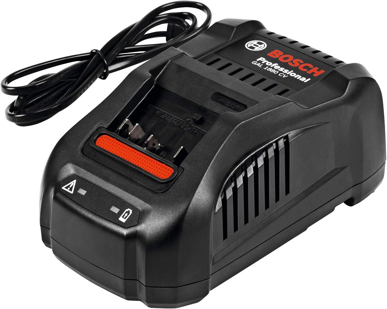 Bosch Professional GAL 1880 CV Cargador rápido para batería de litio, 18 V, Negro, 14.4 V/ 18V