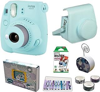 كاميرا فورية 3.2 ميجابيكسل بخاصية تقريب الصورة 0.37x اينستاكس ميني 9 من فوجي فيلم، عبوة اقتصادية - ازرق ايس