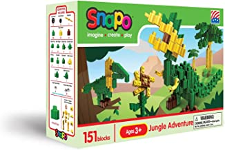 product image for Snapo Jungle Adventure 151 Piece Interlocking Building Block Set