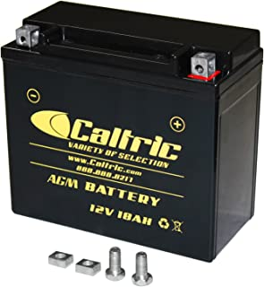 CALTRIC AGM BATTERY compatible with YAMAHA XVS1300 XV-S1300 V-STAR 1300 DELUXE TOURER 2007-2015