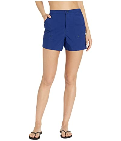 Maxine of Hollywood Swimwear Solids Woven Boardshorts (Navy) Women