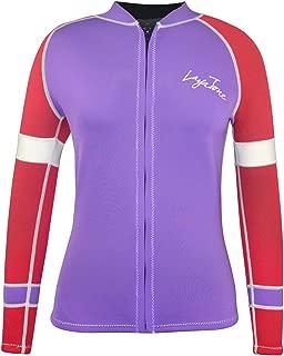 Layatone Wetsuit Top Women 3mm Neoprene Jacket Surf Scuba Diving Suit Front Zipper Canoeing Suit Wet Suit Jacket Women Lady