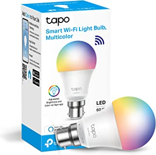 TP-LINK Tapo Smart Bulb, Smart Wi-Fi LED Light, B22, 8.7 W, Works with Amazon Alexa (Echo and Echo Dot) and Google Home, C...