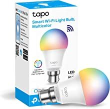 TP-Link Tapo Smart Bulb, WiFi Smart Switch, B22, 8.7W, No Hub Required, Compatible with Alexa (Echo and Echo Dot) and Goog...