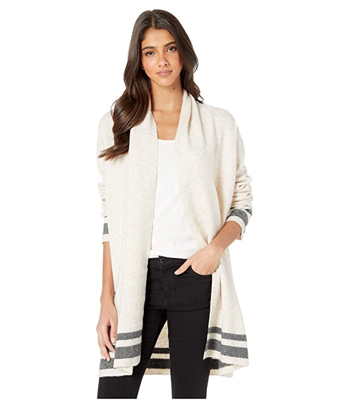 Cupcakes and Cashmere Hank Striped Detailed Cardigan (Buff) Women