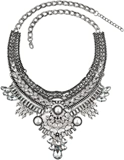 Vintage Bib Boho Bohemian India Style Chunky Party Turkish Statement Collar Necklaces Chain Tassel
