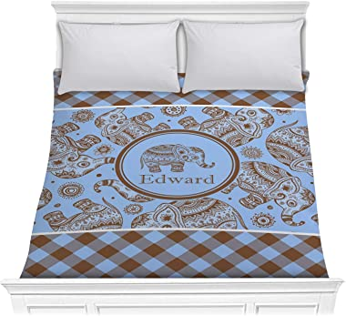 RNK Shops Gingham & Elephants Comforter - Full/Queen (Personalized)
