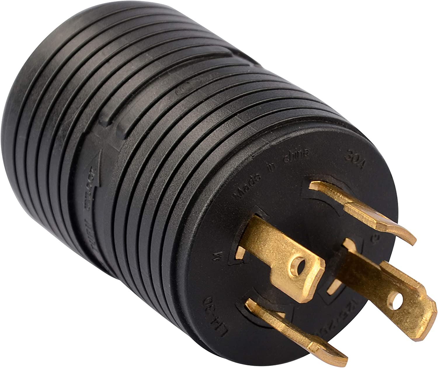 RVGUARD Generator OFFicial mail order Adapter Japan Maker New Plug 4 L14-30P to Prong NEMA 3