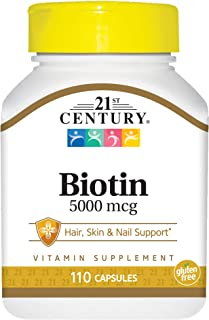 21st Century Health Care. Biotina - 5000mcg x110caps