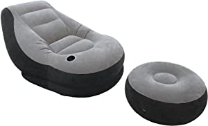 Intex-68564 Poltrona Lounge 99 x 130 x 76 cm, con Poggia Piedi 64 x 28 c, Tinta Unita, 33x12.4x36.8 cm 68564NP