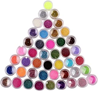 New Nail Art Make up Body Glitter Shimmer Dust Powder Decoration- 45 Colors
