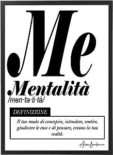 Quadro Moderno Ufficio e Casa - Mentalità - Cornice varie dimensioni - Motivazionale Skills Made in Italy Mod.032