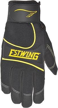 Estwing EST7790M Premium Multi-Purpose Work Glove Cut-Resistant Aramid Fiber Stitching Synthetic Leather Re-Reinforced Palm Black, Medium