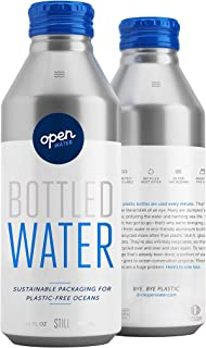 Open Water Still Bottled Water with Electrolytes in 16-oz Aluminum Bottles (4 Cases, 48 bottles - Still) | BPA-free and Eco friendly