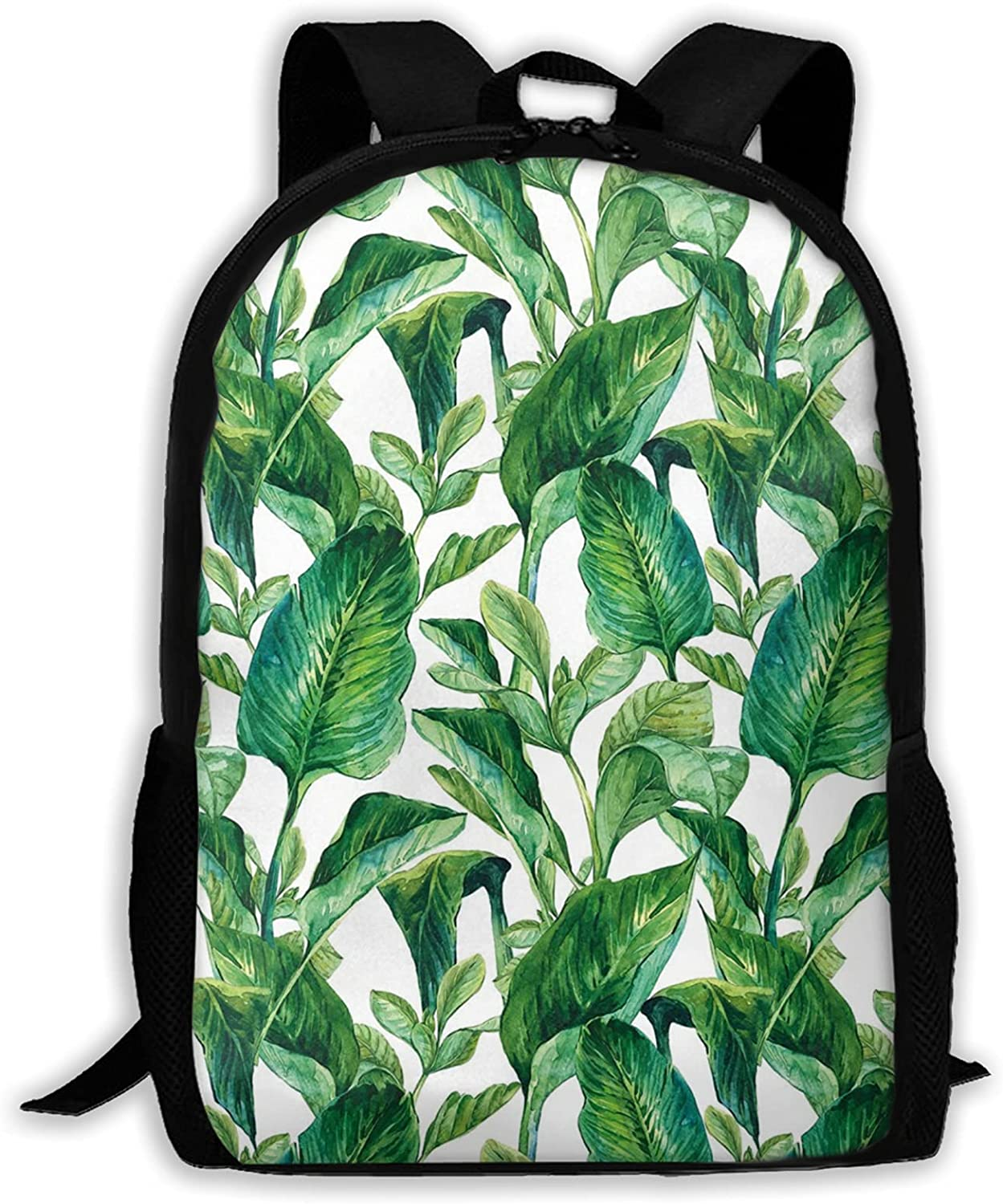 Tropical Leaves Printed Backpack Teen Back Limited time for free shipping outlet Laptop And Girls Boys