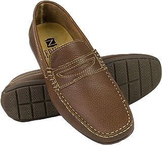 Zerimar Chaussures Bateau en Cuir pour Hommes   Chaussures Nautiques Homme   Mocassins Homme   Grandes Tailles 46-50