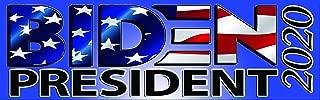 Nostalgia Decals Joe Biden 2020 American Flag Bumper Sticker (8