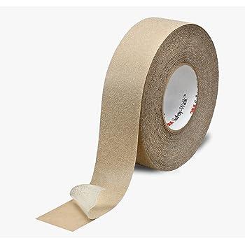 3M 620-B Anti Skid Tape, 48mm X 18.2m, Clear (Pack of 3 rolls)