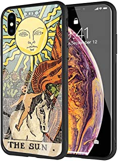 YZSGP AA-198 Egypt Mysterious Tarot Divination Phone Case for iPhone Xs Max, Tempered Glass Back Cover with 360 Degree Full Strong Protection