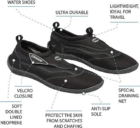 Cressi Mens Reef Premium Aqua Beach Shoes 38 Outdoor Recreation ...