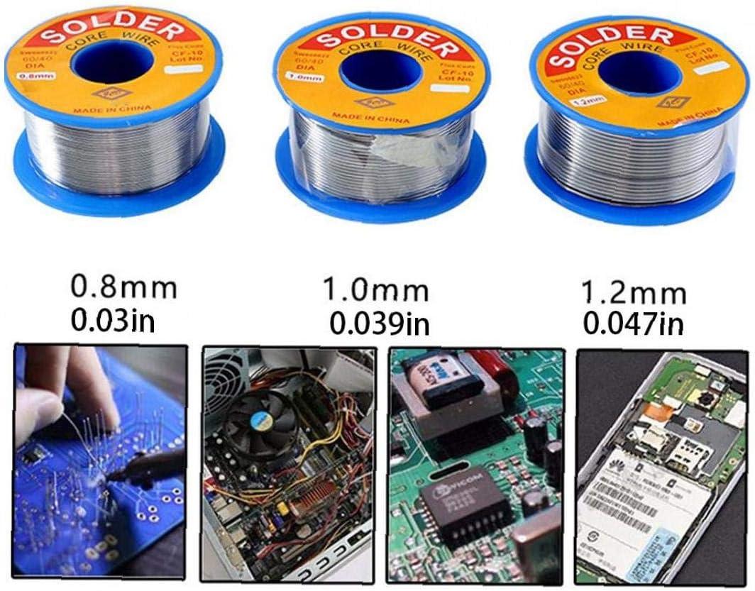 Saldare filo di stagno con Flux Rosin core 0,8 millimetri No Clean per Electrical saldatura Saldatura Fai da te 100g industriali