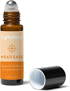 Relief Peppermint Oil for Headaches - Migraine Essential Oil Roller - Easy Application, Pre-Diluted Roll-On - Kid Safe - Leak-Proof Metal Rollerball - No Diffuser Needed!