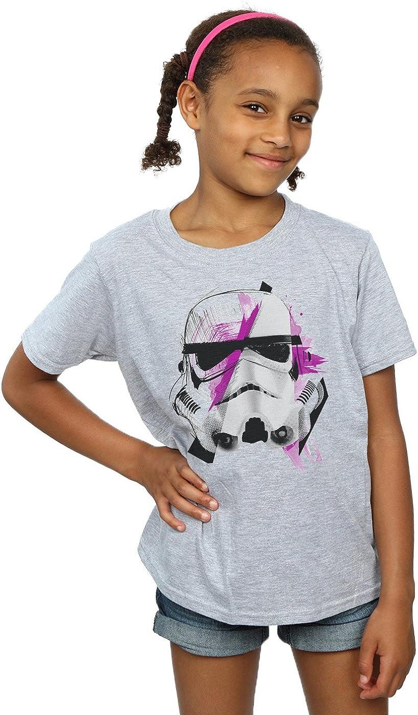 STAR WARS Girls Stormtrooper Command Sketch T-Shirt 5-6 Years Sport Grey